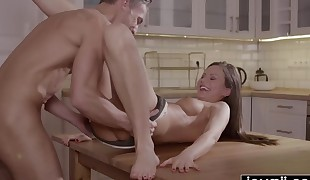 Joymii- thirsty dude  young and  fluid pussy for dinner