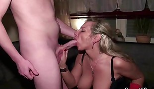 German Mother comforts Phat Pipe Friend of Daughter with Shag