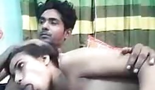 Amateur - Youthfull Indian paramours pummeling on Webcam