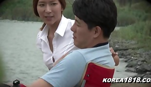 korean chick outdoors wants super-naughty