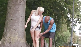 Honey gets multiracial spunk